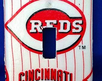 Cincinnati Reds Single Light Switchplate