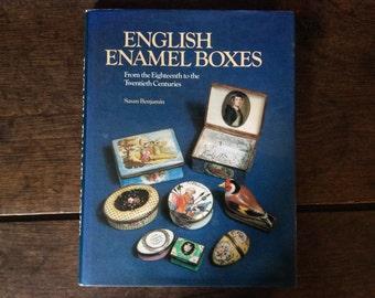 Vintage English book English Enamel Boxes Susan Benjamin book antique antiques Printed 1987 / English Shop