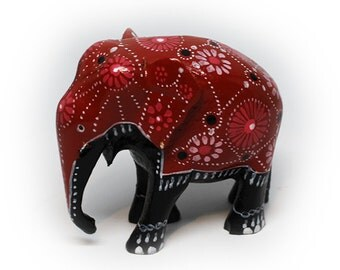 Lacquered Elephant Sculpture