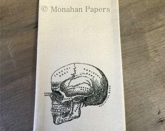 Cranium Tea Towel - Halloween - Skeleton - Medical - Doctor - Gift