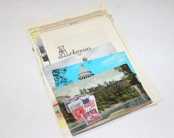 Arkansas - United States Vintage Travel Collage Kit