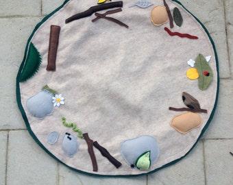 Campfire Play Mat,Campfire Gear, Felt Campfire Play Mat
