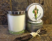 French Vanilla  Handmade Soy Wax Candle - Flat Rate Shipping Now Available!