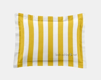Rectangle Pillow Cover - Corn Yellow Stripe - R1