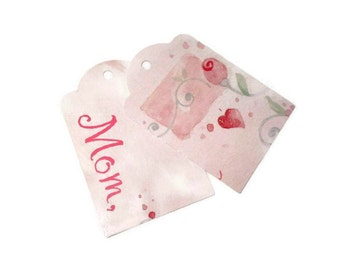 MOM Gift Tag Sets / Up Cycled / Eco Friendly