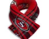 3 Columns Football NFL 49ers San Francisco Microwave Hot Cold Body Wrap, 5.5x26, Rice, Neck Moist Heat, Anti-pil Fleece, Spot Clean