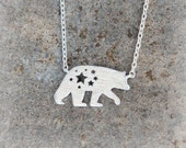 Polar Bear Necklace / choose your color, gold, silver, pink gold