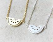 Watermelon Necklace / fruit necklace, choose your color, gold, silver