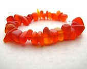 Seaglass Bracelet, Sea Glass Bracelet, Orange Seaglass, Beach Jewelry, Beach Bracelet, Ocean Bracelet, Sunset, Fire