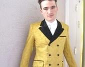 Vintage Men's Gold Brocade Dinner Jacket 44 R
