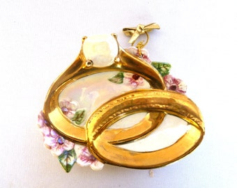 Vintage WEDDING RING DISH
