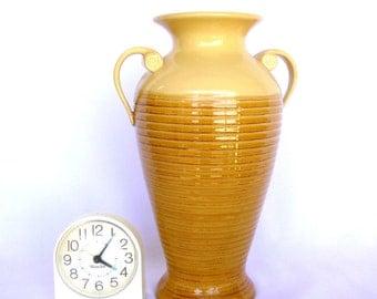 Large HOSLEY POTTERIES VASE/ Vintage Gold Vase