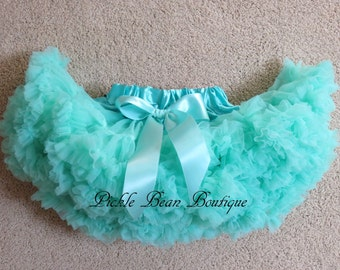 Mint Pettiskirt, 9-24 mo, Ready To Ship, 1st Birthday Tutu, Baby Girl 1st Birthday Outfit, Girls First Birthday Outfits, 1 year Tutu Skirt