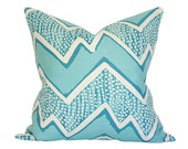 Montecito Turquoise on Tint Pillow Cover (Single-Sided) - Made-to-Order
