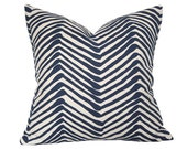 Zig Zag Navy on Tint Pillow Cover (Single-Sided) - Made-to-Order