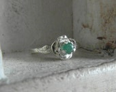 Natural raw  Colombian Emerald-promise-engagement ring- affordable-one of a kind-