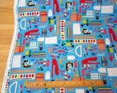 Blue Classroom Supplies premium cotton fabric from the Classroom Collection by Timeless Treasures