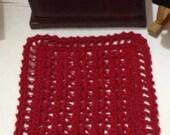 Miniature Crocheted Dollhouse Afghan Blanket Throw