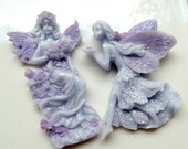 FAIRY SOAP SET, Woodland Fairies, Colored in Lavender or Peach, Your Choice of Colors and Scents, Handmade