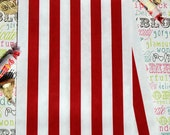 50 Red Stripe Party Favor Bags, Red Wedding Favor Bags, Candy Bags, Popcorn Bags, Carnival Bags, Patriotic Favor Bags