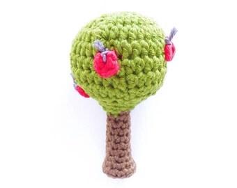 Crochet Apple Tree Rattle Pattern - Instant Download
