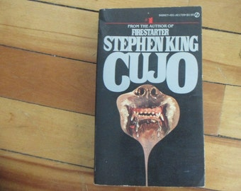 Vintage Paperback Book Cujo by Stephen King