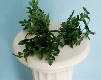 DIY Flower crown leaves floral supply greenery set of 2 bushes hair wreath halo accessories Wedding supplies floral arranging craft bouquet