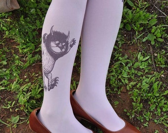 Funny  tights -Where The Wild Things Are  -one size - book clothing