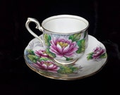 "RESERVED Royal Albert ""Water Lily"" Number 7 in Flower of the Month Series Cup and Saucer"