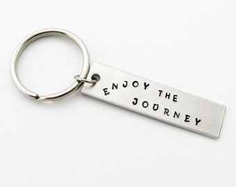 Inspirational Graduation Gift: Enjoy the Journey Keychain for Traveler, Graduate, Dad