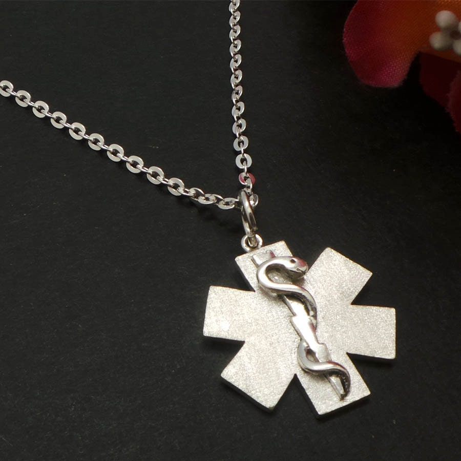 emergency alert id necklace for paramedic emts ems