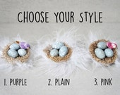 Clip On Nest Ornaments - Robins Egg Easter Ornaments - Clip On Easter Tree Ornament - Easter Egg Decorations - Clip On Bird Ornaments - Nest
