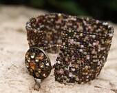 Peyote Bracelet Beadwork Jewelry Beaded Bracelet Womens Bracelet Handmade Jewelry Beadweaving Earth Tones