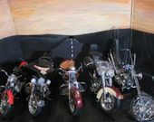 Set of 5 Vintage Precision Harley Davidson 1 :10 th Scale  Die Cast Motorcycles
