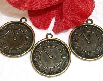 9 Old World Pocket Watch Charms/Pendants