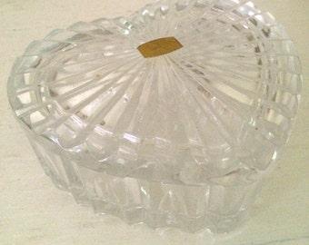 Crystal Heart Jewelry / Trinket Box