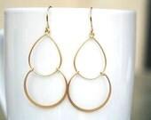 Gold Hoop Earrings. Gold Hoop Earrings. Hoops. Double Hoop Earrings. Gold Dangle Earrings. Simple Gold Earrings. Everyday. Minimalist.Dainty