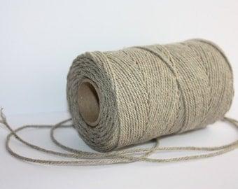 1,5 mm Elegant Linen Yarn - Natural Color - 1 Spool = 110 Yards = 100 Meters
