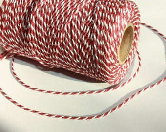 2 mm Cotton Yarn - 1 Spool = 110 Yards = 100 Meter Elegant 100 % COTTON Twisted CORD