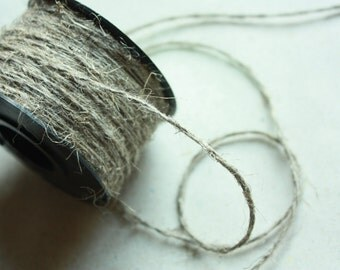 1.5 mm Linen Yarn = 1 Spool = 55 Yards = 50 Meter Natural Linen - Natural Color - 2 strand