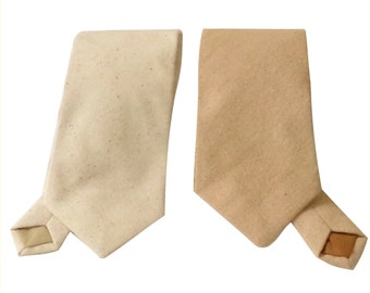 Burlap or natural osnaburg neck tie.  Standard or skinny textured necktie