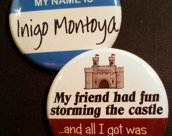 Princess Bride Inspired Buttons, Set of 2