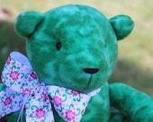 Tied Dyed Green Fleece Teddy Bear