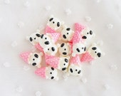 6pcs - Kawaii Panda Bear Ice Cream Dessert Decoden Cabochon (22x15mm) ANM006