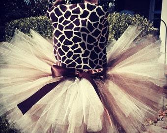 Giraffe 2 pc Costume set, Giraffe Birthday Outfit, 1st Birthday Outfits, Giraffe Birthday, Baby Girl Giraffe Tutus, Giraffe Costumes, Tutus