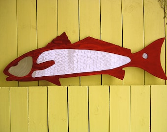 Redfish Metal Art Outdoor Metal Wall Art Sculpture Red Drum Metal Art Fish Metal Art