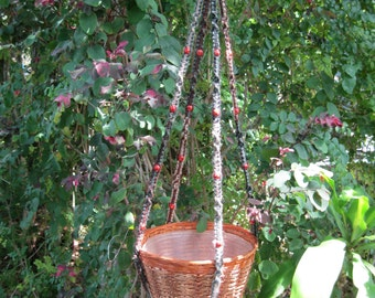 Multi Jute Colors Beads 40 Inch Macrame Plant Hanger