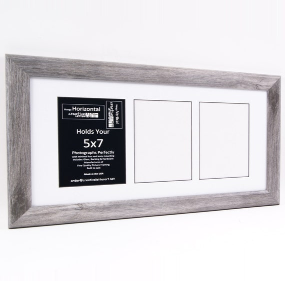 5x7 driftwood picture frames with multi 3 4 5 6 7 8 opening collage mat for