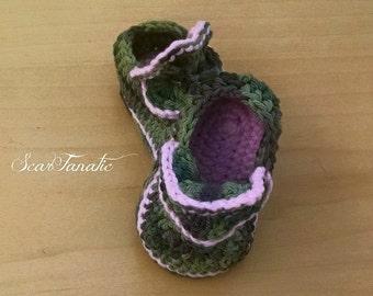 Instant Download Crochet Pattern Baby Flower Loafers/ Shoes 3 sizes 0-3/ 3-6/ and 6-12 mos photo tutorial Permission to sell finished items