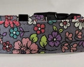 Dog  Collar - Dog, Martingale or Cat Collar - All Sizes - Traditional Flowers